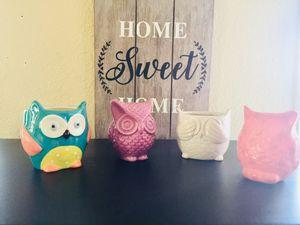 Decor owls $8 each for Sale in Sacramento, CA