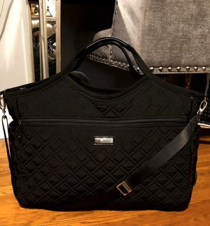 Vera Bradley quilted XL tote paid $180 Like New! Very versatile weekend getaway, work, Yoga, diaper bag or on the go! Classic black quilted tote. App for Sale in Washington, DC