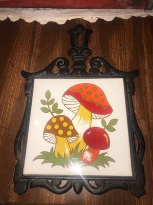 Vintage 1974 Sears & Roebuck Merry Mushroom cast iron trivet for Sale in Franklinville, NC