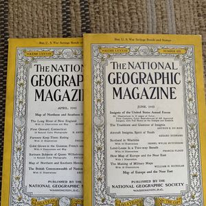 Pair of vintage National Geographic magazines for one price for Sale in Boca Raton, FL