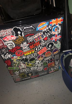 Cool mini fridge i put stickers on for Sale in Wesley Chapel, FL