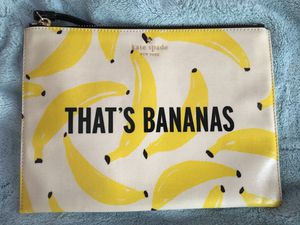 Kate Spade ♠️ that's bananas clutch for Sale in South Gate, CA