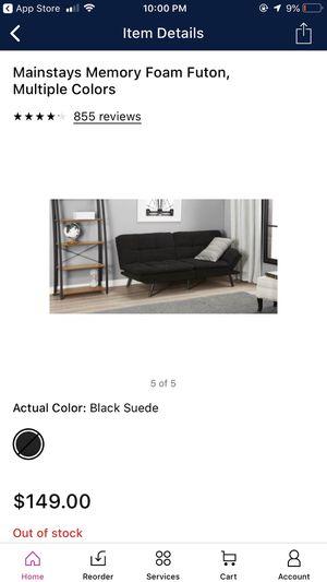 Mainstays Memory Foam Futon - Black for Sale in Columbus, OH
