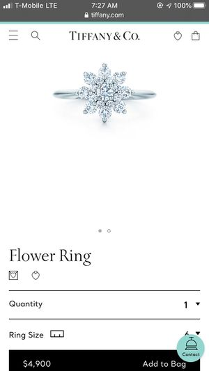 Tiffany Flower ring Platinum size 7.5 for Sale in Irvine, CA
