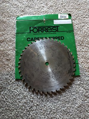 Saw Blades / Table Saw Blades! Forrest woodworker 2 Thin Kerf for Sale in Lake Worth, FL