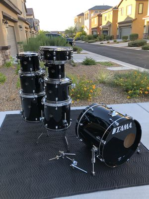 Tama Starclassic 8 Piece Drum Set - Piano Black - Made in Japan for Sale in Las Vegas, NV