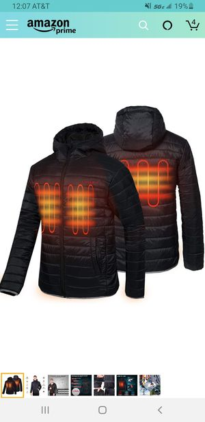 CONQUECO Men's Heated Jacket Light Weight Electric Jacket for Waterproof and Windproof in Winter for Sale in Las Vegas, NV