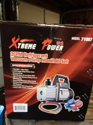 Xtreme manifold gauges and ac vac. down machine new never been opened for Sale in Belton, SC