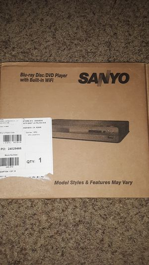 SANYO Blu-ray Disc/DVD Player with Built-in Wifi for Sale in Fullerton, CA