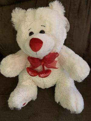 Teddy Bear with red ribbon and Be Mine hearts for Sale in Virginia Beach, VA