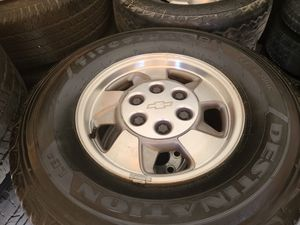 """Wheels and tires p 265/70r16"""" 6 lug Chevy Silverado gmc 6x5,5 or 6x139,7 for Sale in Riverside, CA"""