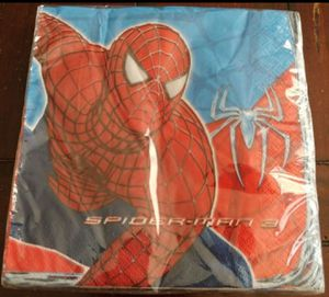 2007 SPIDER-MAN 16 PIECE NAPKIN PACK (SEE OTHER POSTS) for Sale in El Cajon, CA
