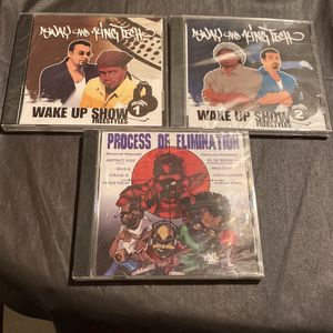 Sway And King Tech Wake Up Show Freestyle Volume 1 & 2 + Process Of Elimination New Rare Raps Cds for Sale in West Sacramento, CA