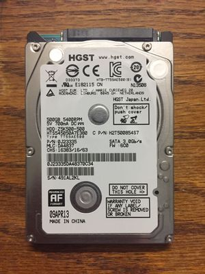 """HGST 500GB 2.5"""" HDD for Sale in Quincy, MA"""