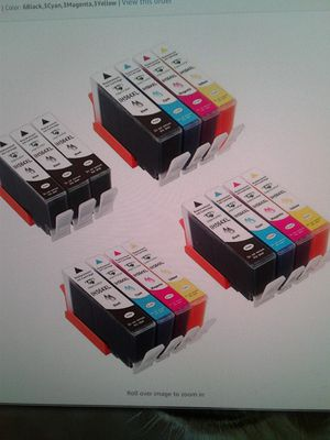 Hp 564 XL refurbished ink cartridges color and black for Sale in Lexington, KY