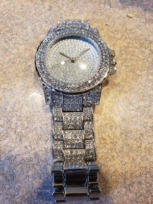 New silver color bling crystal watch for Sale in Kennewick, WA