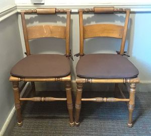 """Pair of Antique """"Hitchcock"""" Style Chairs by HIGH POINT BENDING & CHAIR CO for Sale in Washington, DC"""