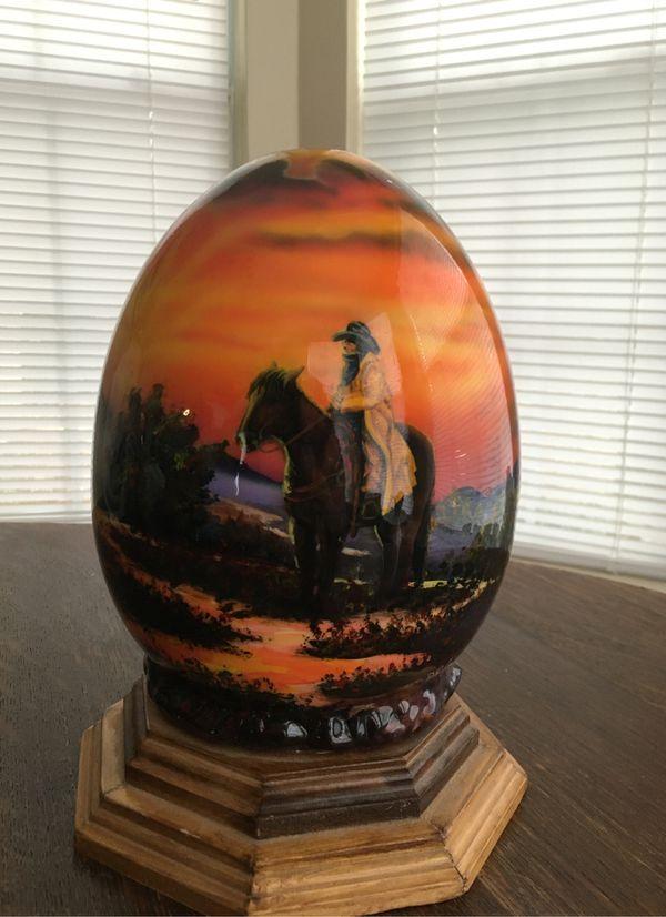 Large egg, signed