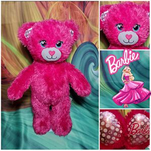 """17"""" Build A Bear BARBIE Sparkly Pink Plush Teddy Retired Limited Edition Doll for Sale in Dale, TX"""