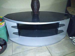 Bush TV Stand-Glass Shelf Storage for Sale in Tulsa, OK