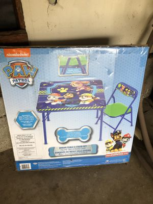 Kids paw patrol table and chair for Sale in Fountain Valley, CA
