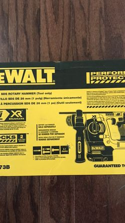Brand New DeWALT With Box SDS Rotary Hammer XR 20v Max for Sale in Virginia Beach,  VA