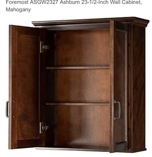 Mahogany Wood Wall Cabinet NEW Unopened Box / Garage, bath or laundry room store price $250.00 for Sale in Payson, AZ