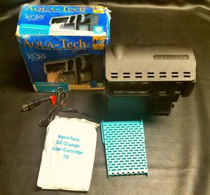 Open Box Aqua-Tech Ultra Quiet Filtration 10-20 gallon Aquariums Tank Filter. *Comes with everything in the pic* for Sale in Danville, VA