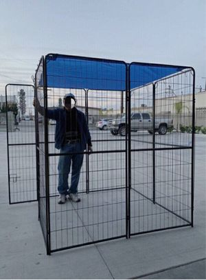 """New 72"""" Tall x 32"""" Wide Panel Heavy Duty 8 Panels Dog Playpen Pet Safety Fence Adjustable Shape and Space with Sunshade Tarp Canopy Cover for Sale in Pico Rivera, CA"""
