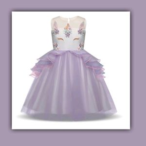 Unicorn Princess Girls Dress Gown Size 10 for Sale in Ithaca, NY