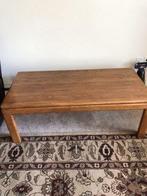 Oak coffee table 24x 49x17 good condition for Sale in Spokane, WA