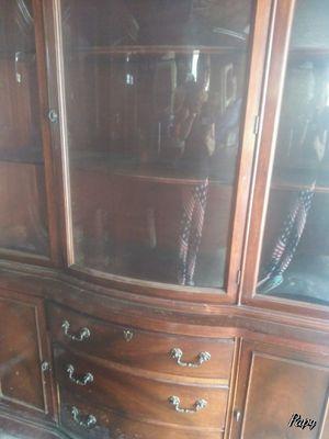 Antique display break front cabinet for Sale in Ridgefield, NJ