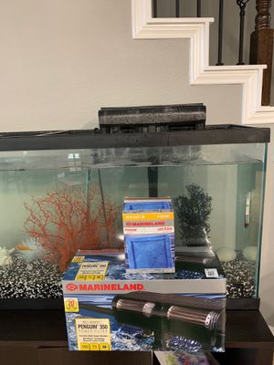 GREAT Aquarium Gravel and Filters $100/OBO for Sale in Pearland, TX