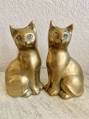 Vintage Brass Cats - a Pair for Sale in San Antonio, TX