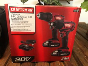 Craftsman's 2 Piece Cordless Tool Combo Set with Drill Bit Set for Sale in Fresno, CA