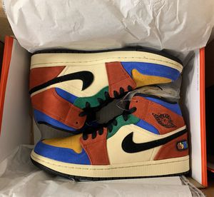 Air Jordan 1 mid SE Fearless Blue the Great for Sale in Vancouver, WA