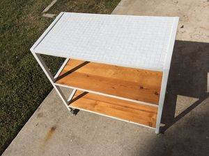 Glass tile topped tables(2) or storage shelves for Sale in Cape Coral, FL