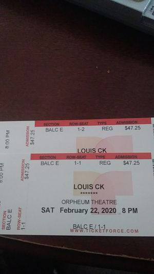 Louis CK Saturday night tickets for Sale in undefined