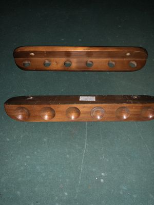 Solid wood, 6 pool cue rack for Sale in Port Richey, FL