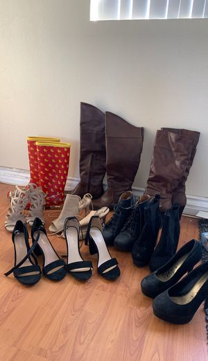 Women heels and boos (size 6/6.5) bundle for Sale in Los Angeles, CA