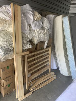 Twin Mattress, Frame and Bedding ($20 Delivery) for Sale in Austin, TX