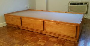 Twin Captains Bed 3 Drawers in Colonial Maple for Sale in New York, NY