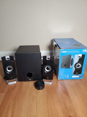 CA Audio CA-3090 18 Watts Speaker Subwoofer System for Sale in Downers Grove, IL