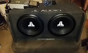 jl audio speakers and slot ported box for Sale in Crosby, TX