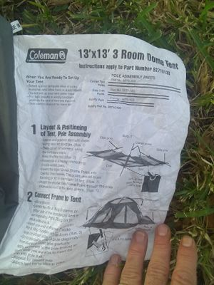 Coleman 3 room tent. Like new for Sale in Bradenton, FL