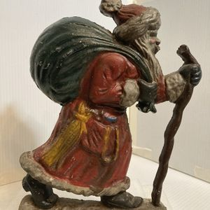 Vintage Cast Iron Father Christmas for Sale in Pike Road, AL