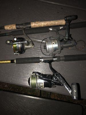 3 fishing rod bundle for Sale in Pompano Beach, FL