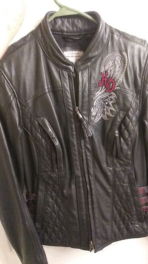 Harley Davidson Leather Riding Jacket size Small Woman's for Sale in Victoria, TX