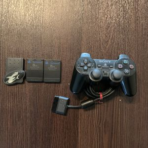Ps2 Controller, Memory Cards, And Game Shark for Sale in Hollywood, FL
