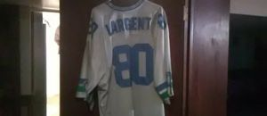 Seattle Seahawks hall of fame wide receiver Steve largent throwback jersey for Sale in Seattle, WA